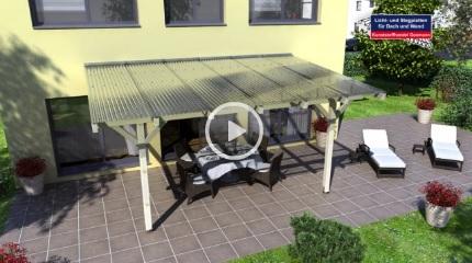 *Video:dacheindeckung aus lichtplatten